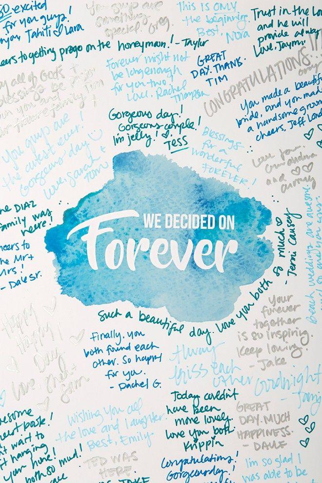298 best Wedding Guest Book Ideas images on Pinterest