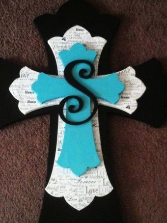 2014 diy Custom Made Wooden Decorative Stacked Cross with English alphabet - deaded, crafts, decoration