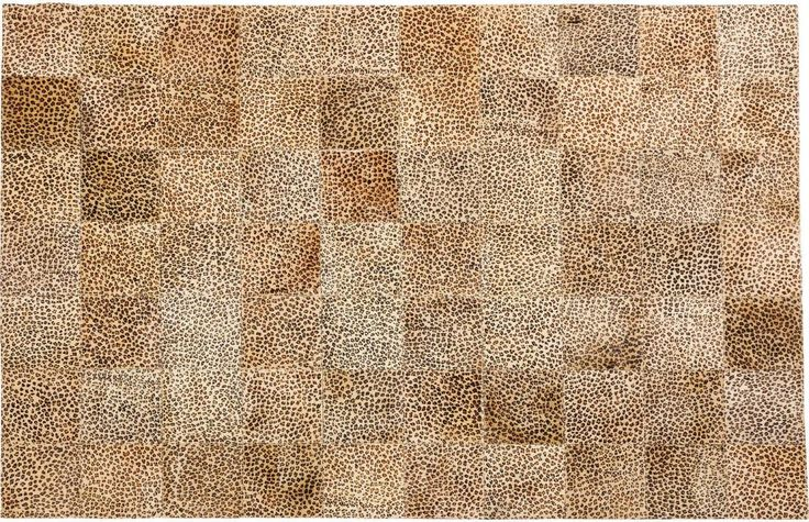 Vloerkleed Square Leo - Echt leer - 240x170 cm - Kare Design