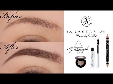 natural looking eyebrow tutorial using Anastasia Beverly Hills products - YouTube