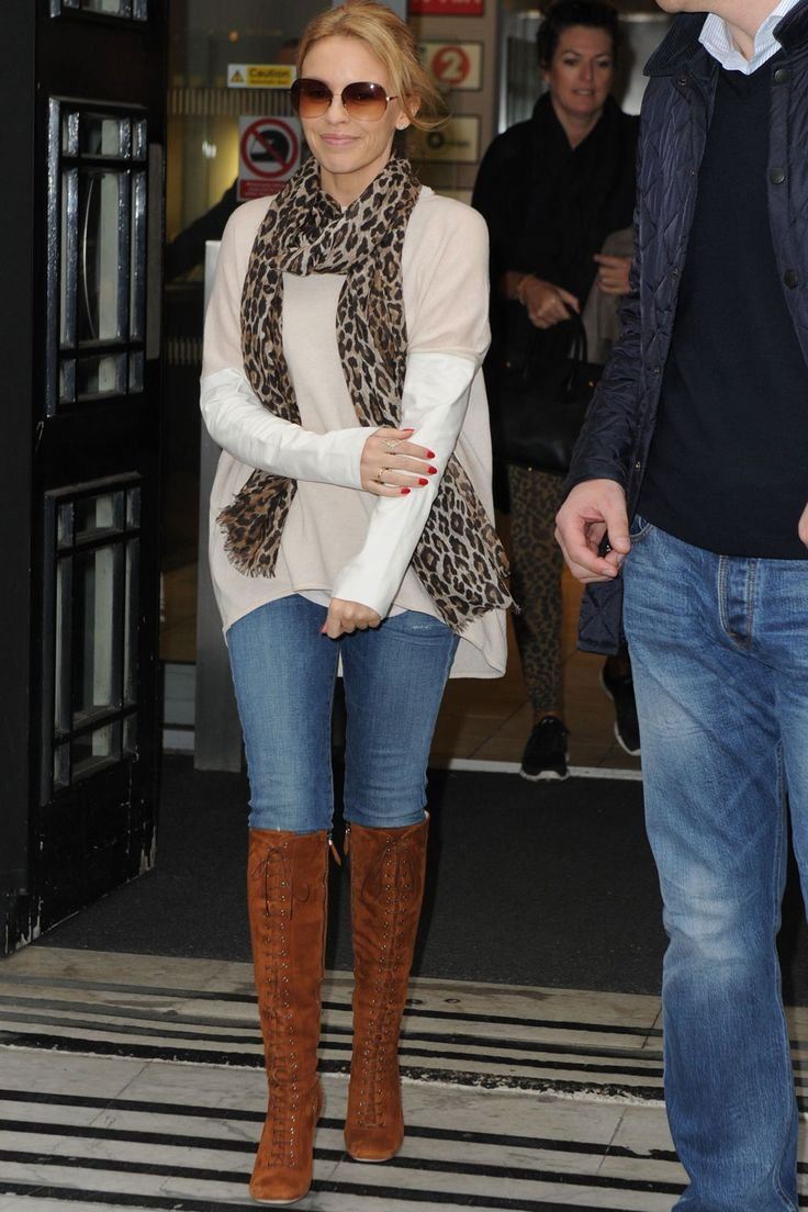 Kylie Minogue Does Casual Style Like A Pro Outside The BBC Radio Studios, 2014