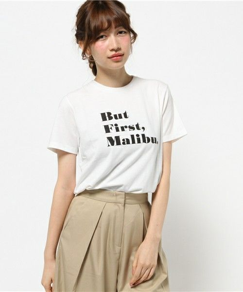 FREE'S MART(フリーズマート)のMalibu ロゴTシャツ(Tシャツ/カットソー)|ホワイト