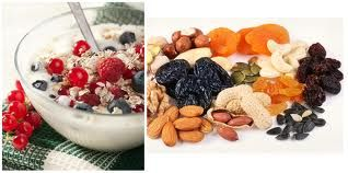 Dried fruits, nuts and raisins