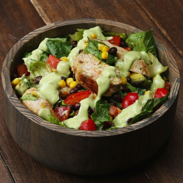 Southwestern Chopped Salad With Avocado Dressing by Tasty