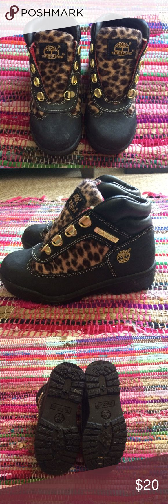 Girls Timberland Boots Little girls Timberland in good condition ▫️ missing shoelaces and stitching on right shoe ... Timberland Shoes Lace Up Boots