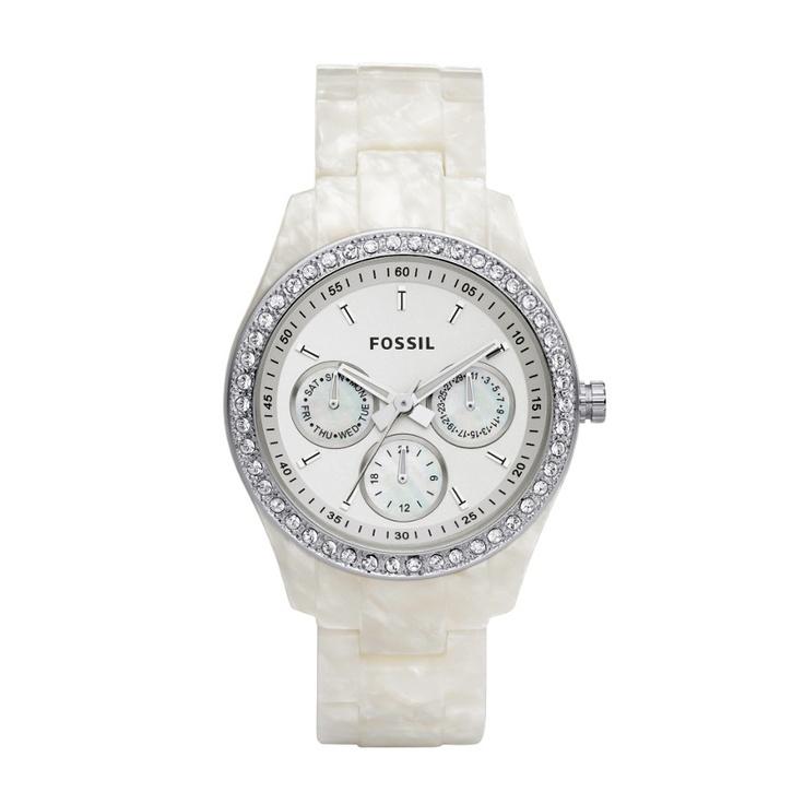 FOSSIL® Watch Styles White Watches:Women Stella Resin Watch - Pearlized White ES2790