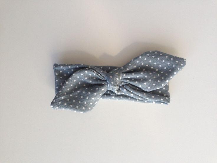 Polka dot top knot headband