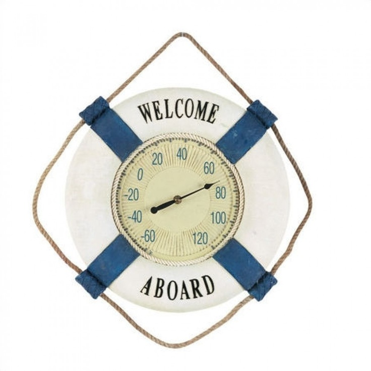 """Welcome Aboard"" Outdoor Thermometer - ...already have a clock like this!"