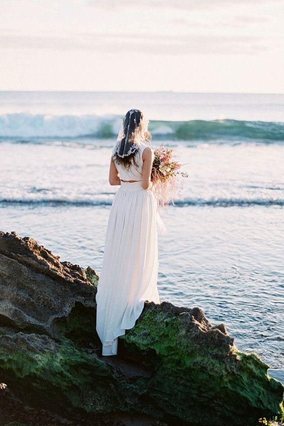 Bridal Veil Mantilla Crystal Wedding Veil Style by BrideLaBoheme