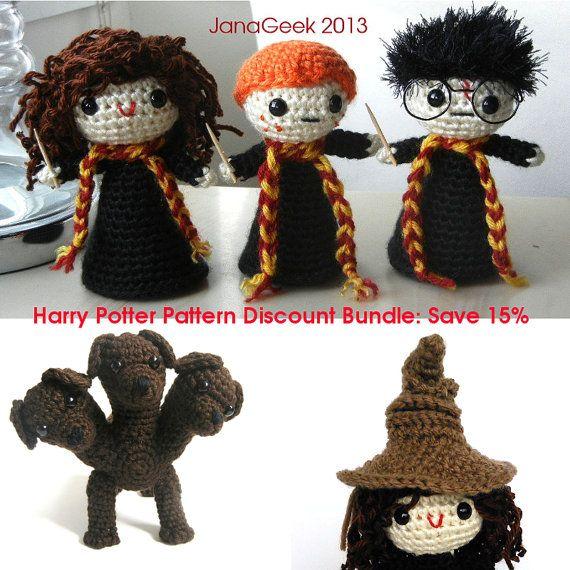 Harry Potter Muppets: Harry Potter Inspired Crochet Pattern Discount Bundle Save