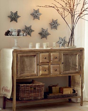 Wood-Slice Snowflake Ornament Set