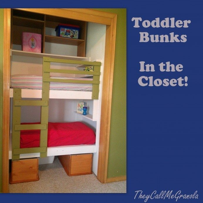 toddler beds in closets | Toddler Bunk Bed.., My meme made a closet bed for us grandkids at the ...