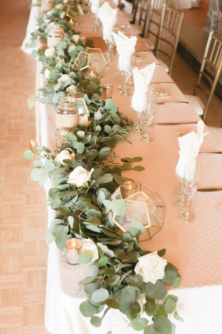 Christina Ryan S Wedding At The Waterstone Estate Farms Vintagebash Head Table Wedding Head Table Wedding Decorations Wedding Table Centerpieces
