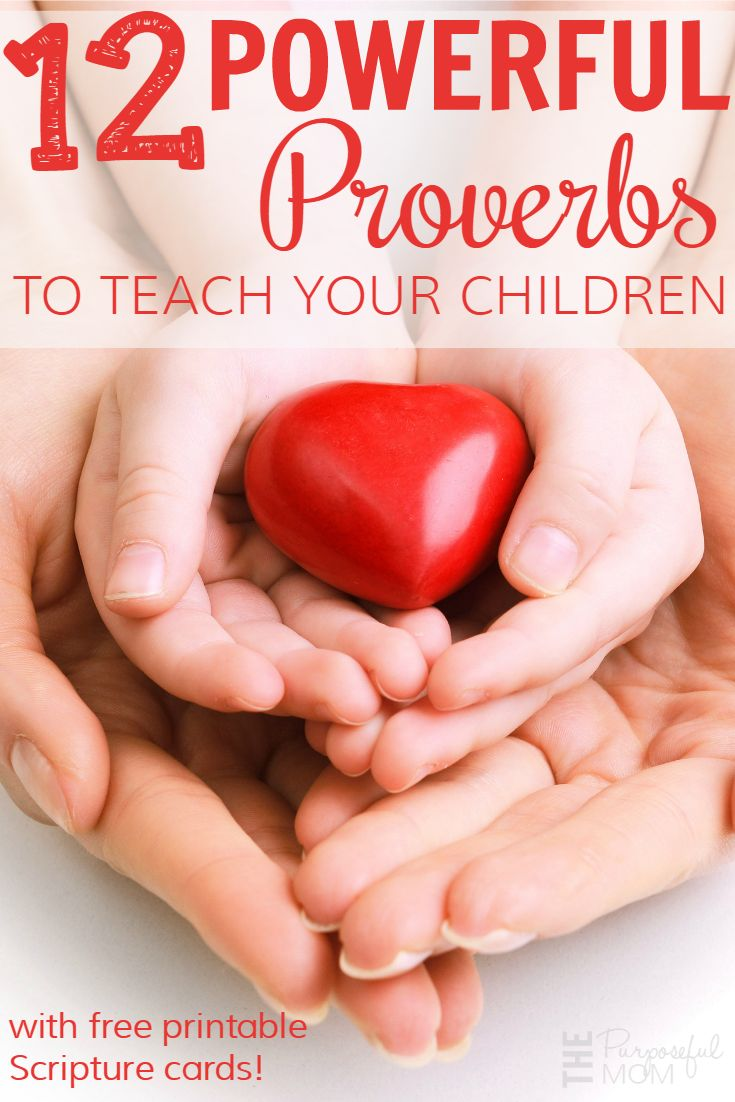 Teach your children these 12 powerful Proverbs! These verses teach our children (and us!) so much about the wisdom of God and can impact their lives for the long-term! Comes with printable Scripture cards too.