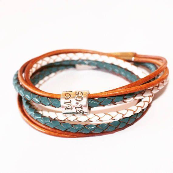 #WomensPersonalisedBracelet, Mothers Day Gift, Womens  Bracelet, Charm, #SilverCharmBracelet #LeatherBracelet #Pandora #ladiesgift sBracelet #leatherwrap #custombracelet #handmade  #handmadejewelry #jewelry #etsy #etsyjewelry #etsyfashion #etsygift  #bracelet #custombracelet