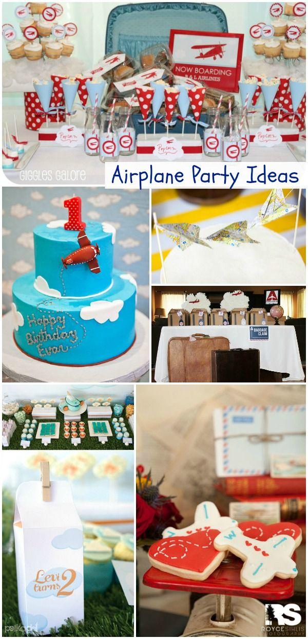 Airplane Birthday Party #Planes #Aviation