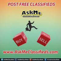 Classified Ads it is also very cost effective way to promote any type of business, product or service. AskMe Classifieds is World's One of the best Free classifieds ads site.