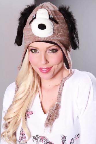 Brown Dog Beanie Hat
