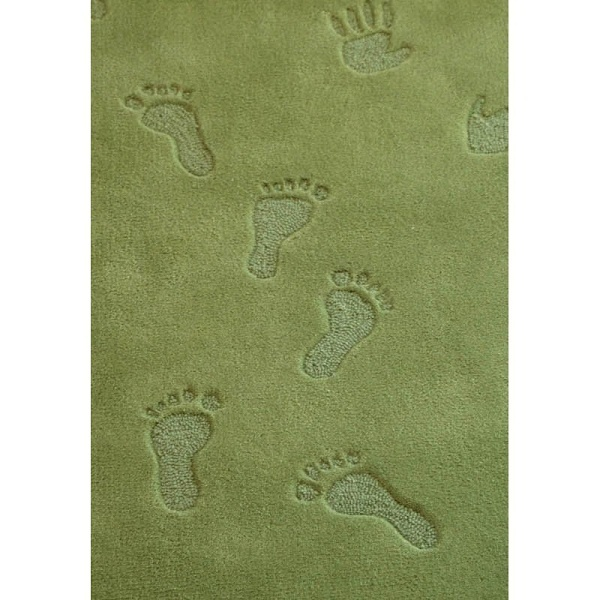 First Steps Green Childrens Rug