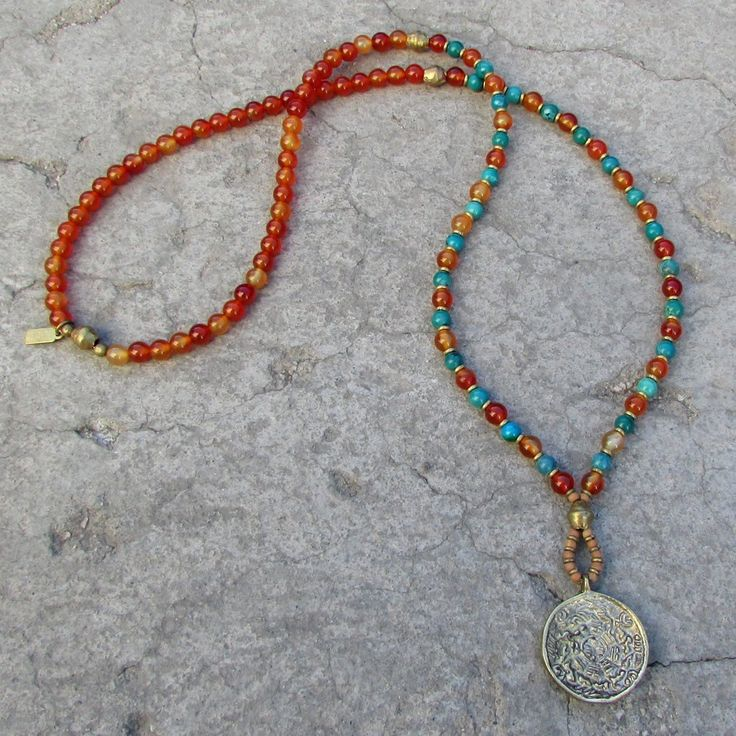 Stability And Communication Carnelian And Turquoise 108