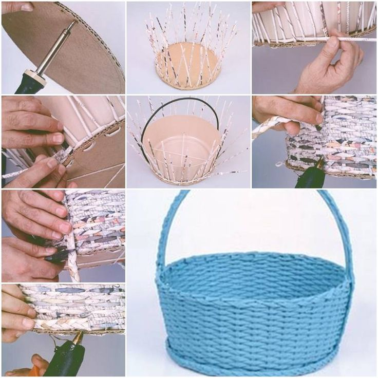 How To Make Simple Newspaper Basket Step By DIY