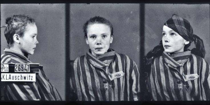 This is the mugshot of Czesława Kwok, a 14-year-old Polish girl arrested by the Fascists in November 1942 and sent to the death camp at Oświęcim in Upper Silesia (better known by its German name of Auschwitz), along with her mother. They were both dead by February.