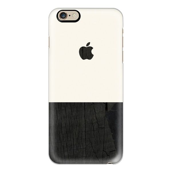 iPhone 6 Plus/6/5/5s/5c Case - Black wood and cream color block mens... ($40) ❤ liked on Polyvore featuring men's fashion, men's accessories, men's tech accessories, iphone case and mens wallet iphone case