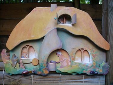 Wooden mini theatre fairy tale. The naughty pancake www.berkeblad.nl