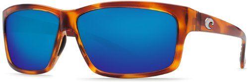Costa del Mar Cut Polarized Iridium Rectangular Sunglasses Honey Tortoise 606 mm >>> Visit the image link more details.