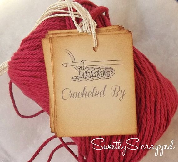 17 best crochet tags images on pinterest for Custom tags for crafts