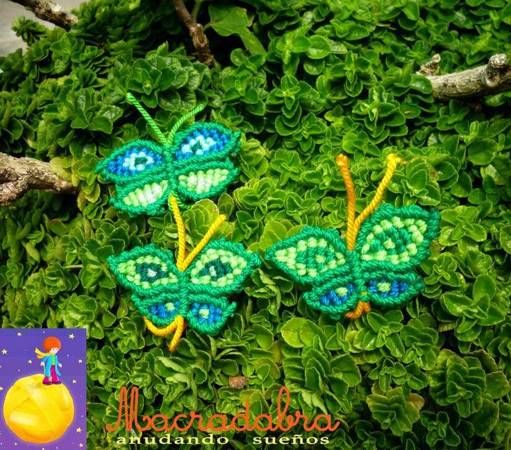 Mariposas verdes #macrame