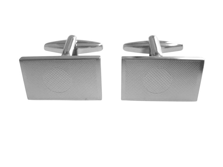 Silver Toned Etched Bangladesh Flag Cufflinks