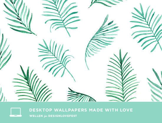 desktop wallpaper-fonds d'écran-designlovefest-feuilles- palmier-mintyblog