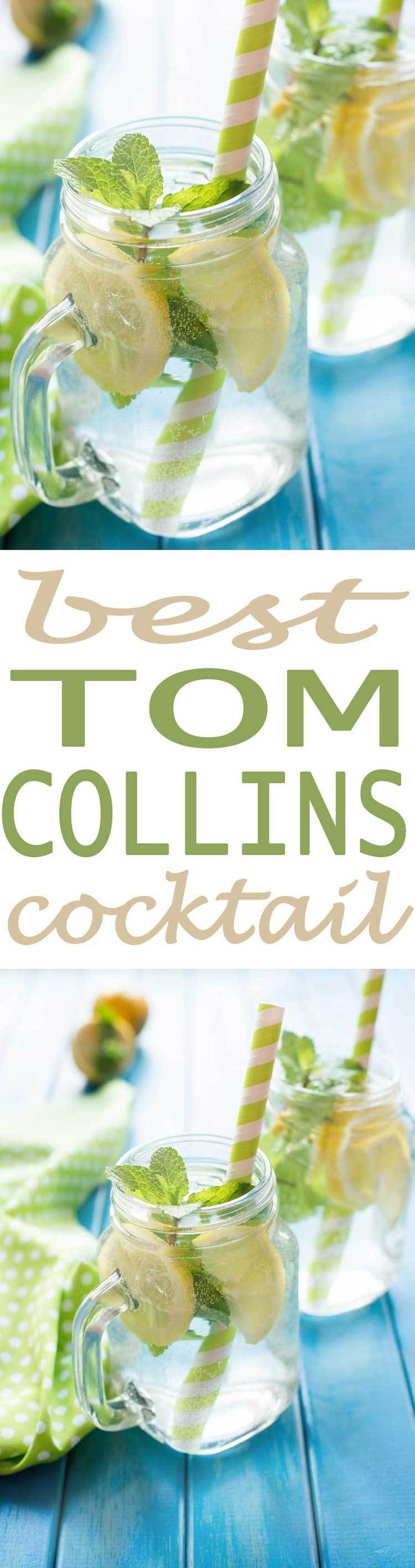 Tom Collins Cocktail is a fun and simple adult beverage recipe with a sweet flavor and a little kick. Great for your next pool or backyard party.