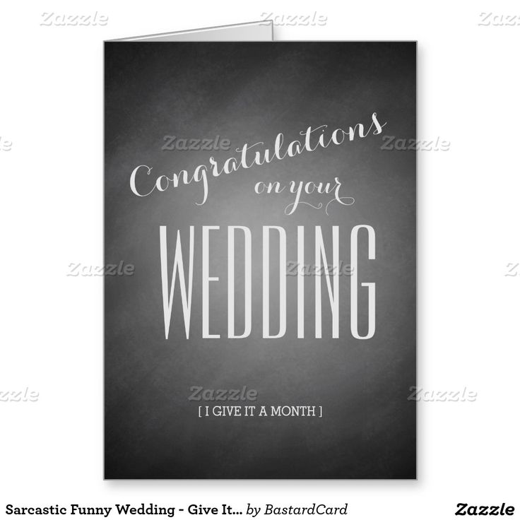 personalized wedding thank you notes%0A Sarcastic Funny Wedding  Give It A Month Card