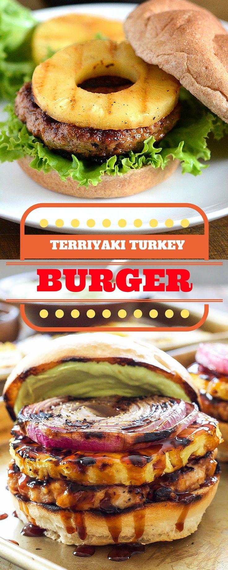 Grill Lovers' Teriyaki Turkey Burgers Recipe Ingredients• 1 pound lean ground turkey • 2 Tbls. fresh ginger, minced • 1 egg • 1 cup panko bread crumbs • pinch Kosher salt • 1/2 cup chunky teriyaki sauce • 4 slices pineapple • green leaf lettuce • 4 hamburger rolls InstructionsPreheat the grill to medium heat.[...]