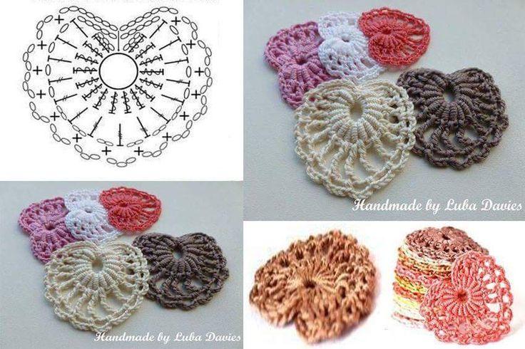 47 best Crochet (Corazones) images on Pinterest | Patrones de ...
