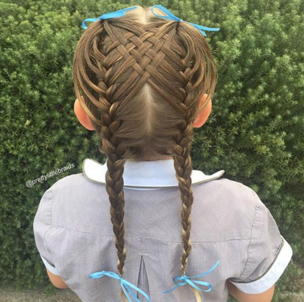 This Little Girl Goes To School Each Day With The Most Incredible Braids You&#39… – hair styles