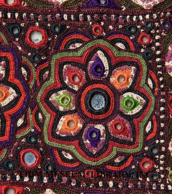 Mirror work embroidery motifs makaroka