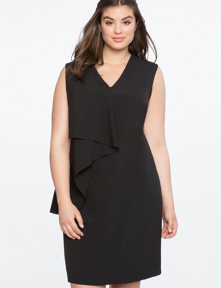 robe asymétrique femme ronde robe noire mariée idée robe courte black wedding dress