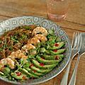 Pour un repas vite prêt, je me suis inspirée, pour mon aubergine, d'une recette de VANESSA CUISINE,Une purée d'aubergine aux épices. ...