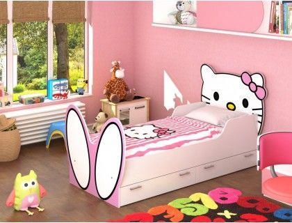 Детская кровать для девочки Hello Kitty!