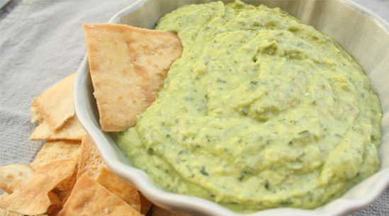 Pesto Hummus | PureWow   4 ounces fresh basil  3 cups canned chickpeas, drained and rinsed  4 ounces feta cheese  1¼ cups extra-virgin olive oil  Zest from 1 lemon (about 2 tablespoons)  Juice from 1 lemon (about 2 to 3 tablespoons)  Salt and freshly ground black pepper