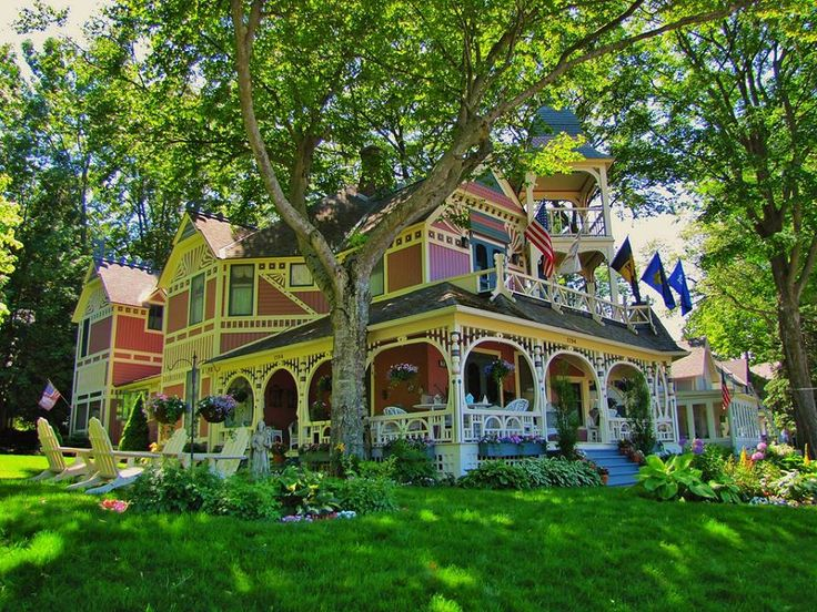 Here is the Bay View Tower House in Petoskey Michigan. Now if you like Victorian Architecture, this Grand Dame has all the bells & whistles...tower, porch, trim & details, and check out that yard! All Rights Reserved by Brandon Bartoszek