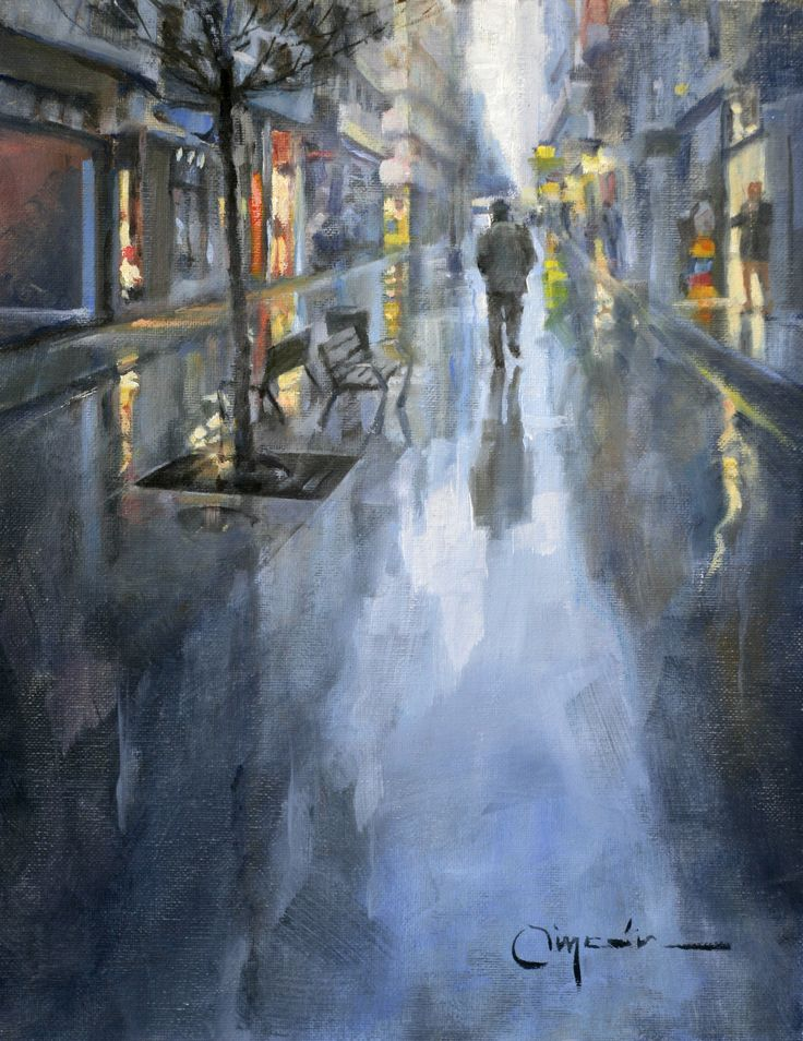36 best images about my art on pinterest oil on canvas - Calle marina barcelona ...
