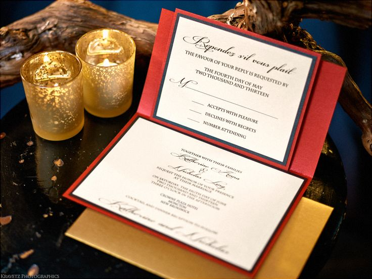 RSVP Cards from a Red and Black Oriental Styled Wedding by Unico Decor #unicodecor #weddings #oriental #asain #beautiful
