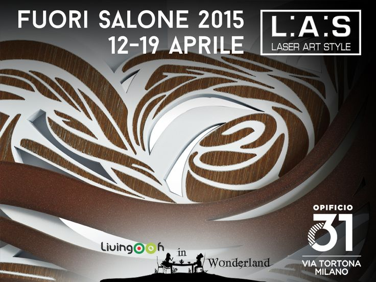 #CuriosityLAS At Fuorisalone with #laserartstyle you may come in the magic world of Alice and discover wonder of Made in Italy design! Who will be there? Project: @livingooh - PoliHub Fondazione Politecnico di Milano