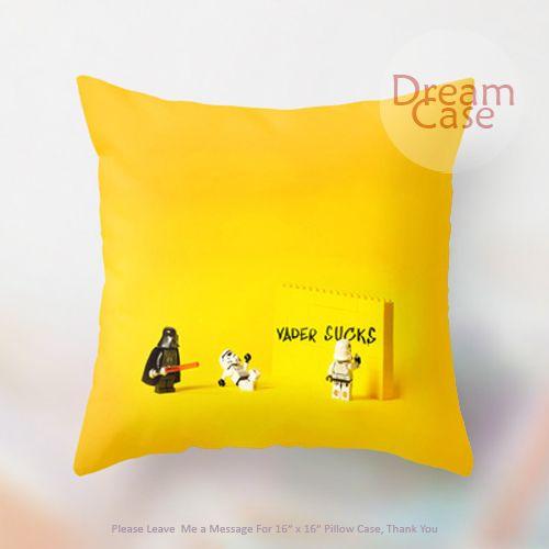 star wars darth vader sucks lego decorative - Pillow Case 18 x 18 - Note for