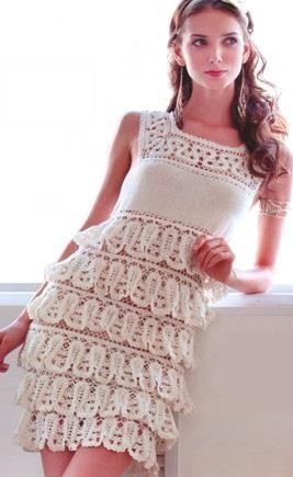 Как связать каскадный сарафан платье летнее крючком