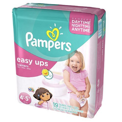 Pampers Easy Ups Easy Ups Girls, Jumbo Pack, 4T-5T (Size 6)